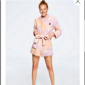 Victoria's Secret Purple Peach Robe Sz M/L
